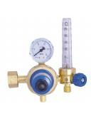 Ротаметр для кислорода (кислородный) 25л/мин (флоутер)+редуктор кислородный БКО-50-4-2М ДМ с ротаметром