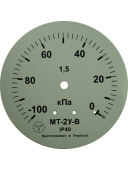 Вакуумметр показывающий МТ-2У-В (МТ-2У, МТ 2У, МТ2У, МТ2-У) - осевой штуцер (ОШ)