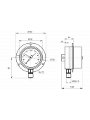 Вакуумметр электроконтактный МТ-3С (МТ 3С, МТ3С, МТ3-С)