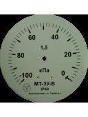 Вакуумметр виброустойчивый (глицериновый)  МТ-3У-В (МТ-3У, МТ-3У-Ву, МТ-3УВу, МТ-3Ву) - радиальный штуцер (РШ)