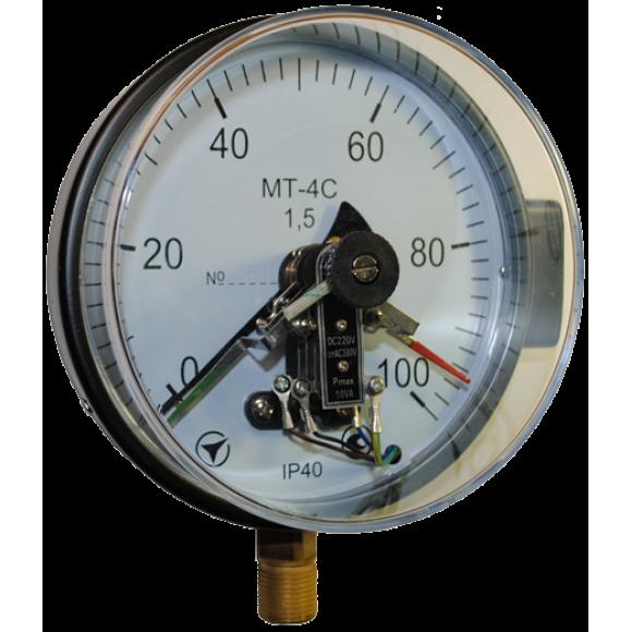 Манометр электроконтактный МТ-4С (МТ 4С, МТ4С, МТ4-С)