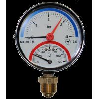 Термоманометр радиальный МТ-80-ТМ (МТ-80-ТМ-Р,  МТ80ТМ, МТ80-ТМ, МТ-80ТМ, МТ 80 ТМ)