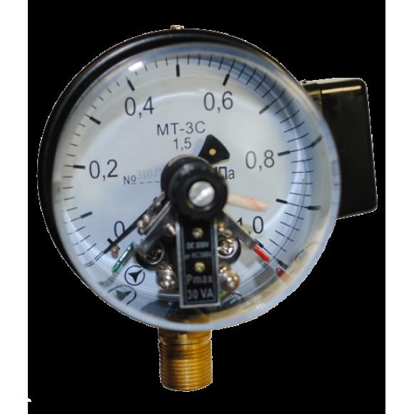 Манометр электроконтактный МТ-3С (МТ 3С, МТ3С, МТ3-С)