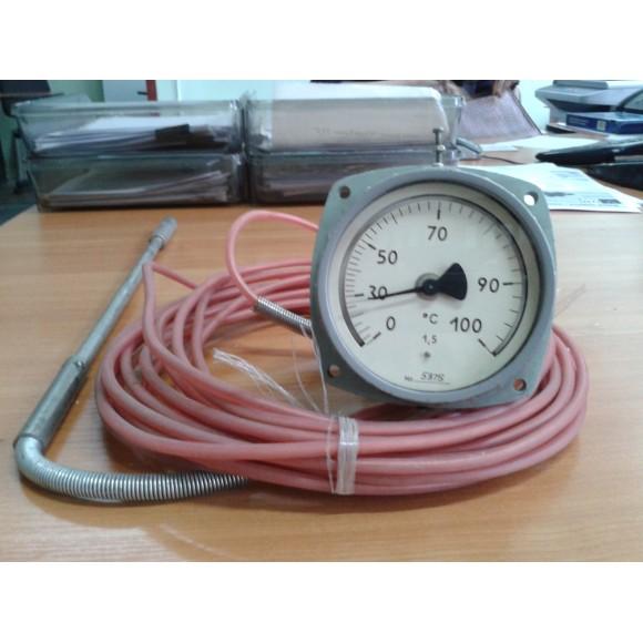 Термометр манометрический ТКП-100Эк-М1 (ТКП-100Эк, ТКП100Эк, ТКП 100Эк, ТКП100Эк-М1, ТКП 100Эк-М1)