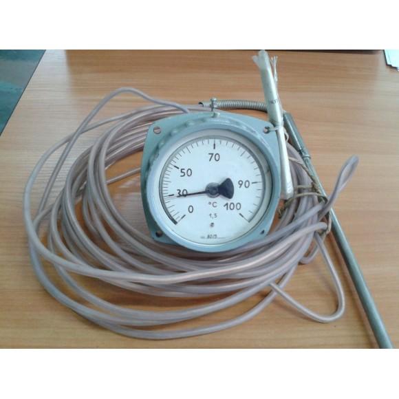 Термометр манометрический ТГП-100Эк-М1 (ТГП-100Эк, ТГП100Эк, ТГП 100Эк, ТГП100Эк-М1, ТГП 100Эк-М1)