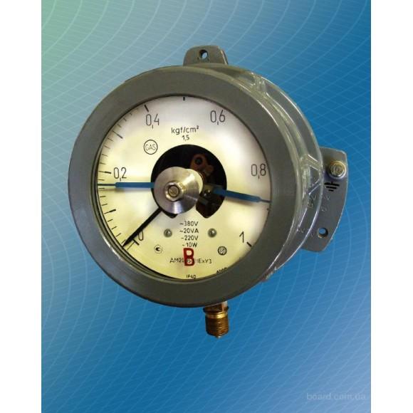 Вакуумметр электроконтактный, взрывозащищенный ДВ2005Сг1Ех (ДВ-2005Сг1Ех, ДВ 2005Сг1Ех, ДВ2005-Сг1Ех)