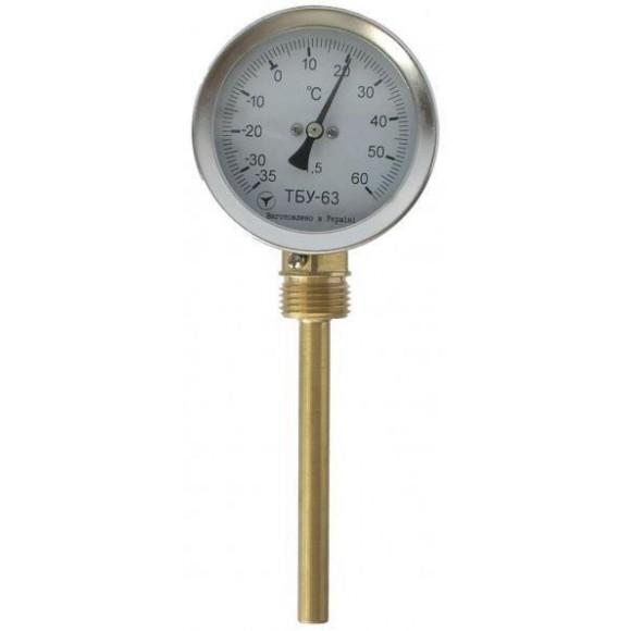 Термометр биметаллический радиальный ТБУ-63 (ТБУ 63, ТБУ63, ТБ-63, ТБ-063, ТБ 63, ТБ63, ТБП)