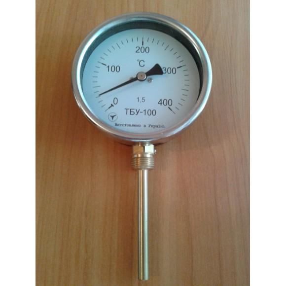 Термометр биметаллический радиальный ТБУ-100 (ТБУ 100, ТБУ100, ТБ-100, ТБ 100, ТБ100, ТБП)