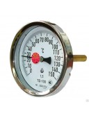 Термометр биметаллический осевой ТБ-100 (ТБ 100, ТБ100, ТБУ-100, ТБП-100)