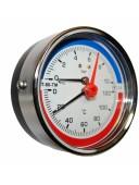 Термоманометр осевой МТ-80-ТМ (МТ-80-ТМ-О,  МТ80ТМ, МТ80-ТМ, МТ-80ТМ, МТ 80 ТМ)