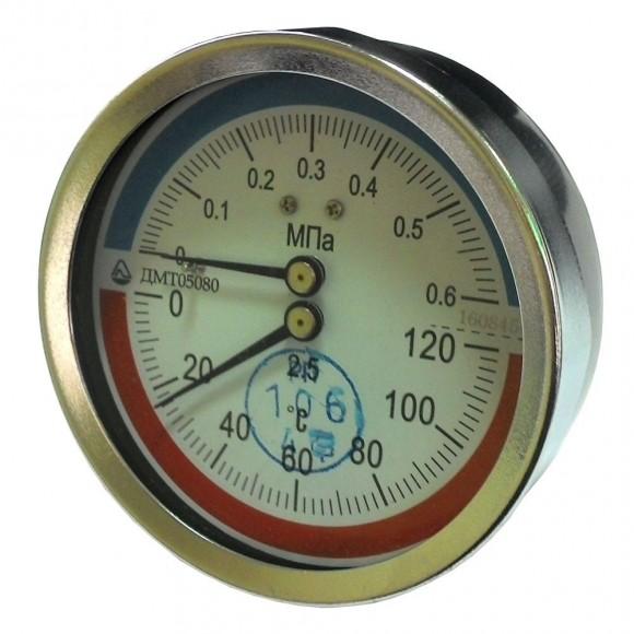 Термоманометр осевой ДМТ 05080 (ДМТ, ДМТ-05080, ДМТ05080)