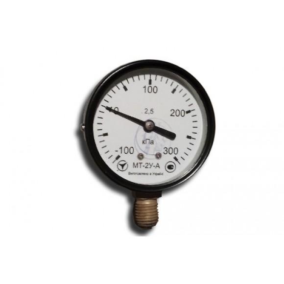 Мановакуумметр показывающий МТ-2У-А (МТ-2У, МТ 2У, МТ2У, МТ2-У) - радиальный штуцер (РШ)