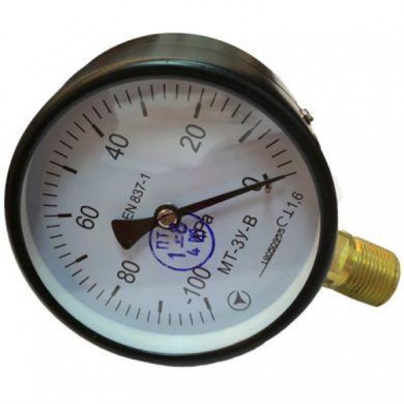 Вакуумметр показывающий МТ-3У-В (МТ-3У, МТ 3У, МТ3У, МТ3-У) - радиальный штуцер (РШ)