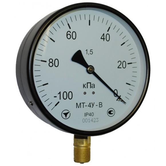 Вакуумметр показывающий МТ-4У-В (МТ-4У, МТ 4У, МТ4У, МТ4-У) - радиальный штуцер (РШ)
