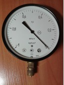 Вакуумметр показывающий ВП4-У (ВП-4У, ВП4У, ВП 4У) - радиальный штуцер (РШ)