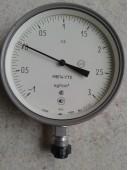 Мановакуумметр показывающий МВП4-У (МВП-4У, МВП4У, МВП 4У) - радиальный штуцер (РШ)