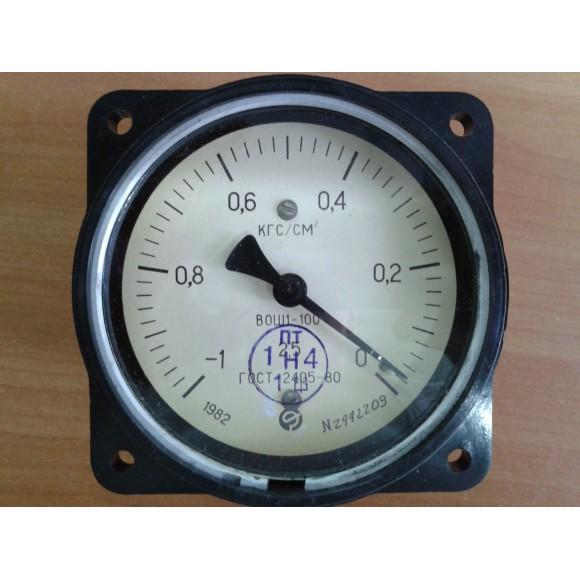 Вакуумметр показывающий ВОШ1-100 (ВОШ-1-100, ВОШ, ВОШ100, ВОШ 100) - осевой штуцер (ОШ)