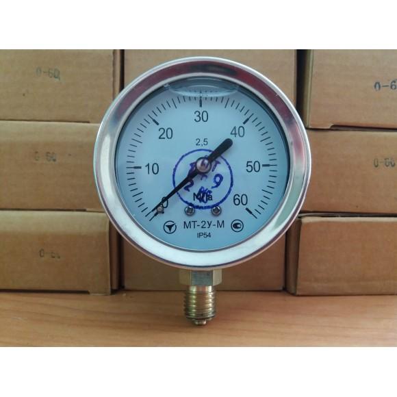 Манометр виброустойчивый (глицериновый)  МТ-2У-М (МТ-2У, МТ-2У-Ву, МТ-2УВу, МТ-2Ву) - радиальный штуцер (РШ)