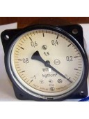 Вакуумметр показывающий ВП4-У ФОШ (ВП-4У, ВП4У, ВП 4У) - осевой штуцер (ОШ), с фланцем