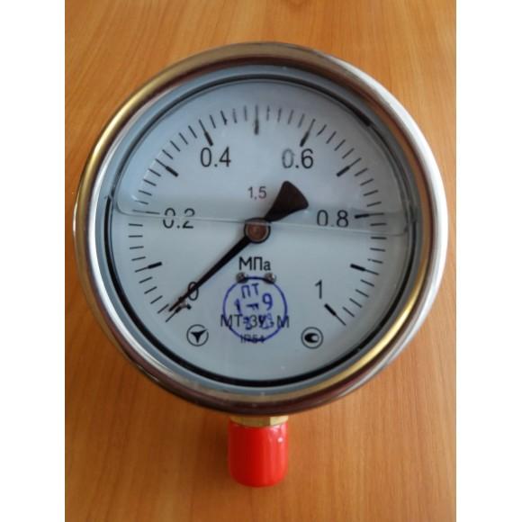 Манометр виброустойчивый (глицериновый)  МТ-3У-М (МТ-3У, МТ-3У-Ву, МТ-3УВу, МТ-3Ву) - радиальный штуцер (РШ)