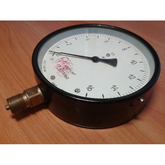 Манометр показывающий МТП-160 (МТП 160, МТП160, МТП) - радиальный штуцер (РШ), осевой штуцер (ОШ), с фланцем
