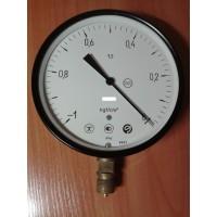 Вакуумметр показывающий ВТП-160 (ВТП 160, ВТП160, ВТП) - радиальный штуцер (РШ), осевой штуцер (ОШ), с фланцем